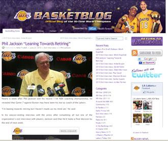 Palabras de Phil Jackson en el web de los Lakers