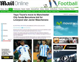 Informaci�n del 'Daily Mail' sobre Mascherano, Palacios y el Barcelona