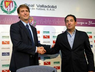 Antonio G�mez en su presentaci�n como nuevo t�cnico del Real Valladolid
