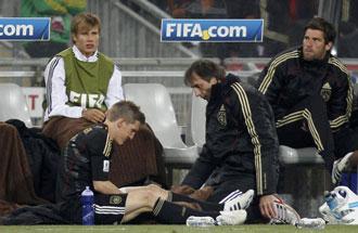 Schweinsteiger se retir� lesionado ante Ghana