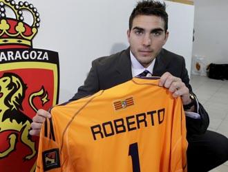 Roberto con el Zaragoza la temporada pasada