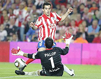 Jurado, en la final de Copa contra el Sevilla