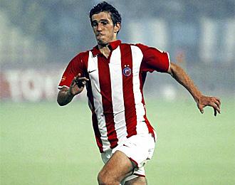 Dejan Lekic, en un partido con el Estrella Roja