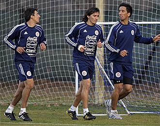 Entrenamiento de Paraguay