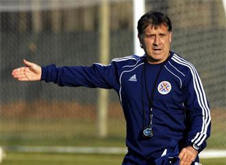Martino, en un entrenamiento