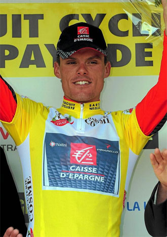 Luis Le�n S�nchez en el podio del circuito de La Sarthe