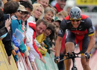Armstrong, durante la Vuelta a Suiza