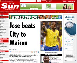 Informaci�n del diario The Sun sobre Maicon y el Real Madrid
