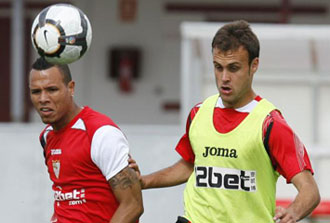 Cala en un entrenamiento del Sevilla