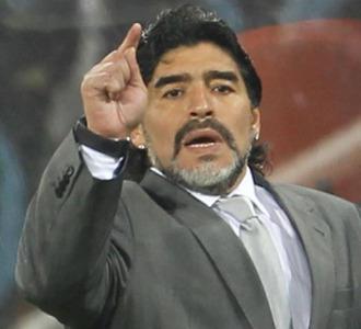 Maradona, durante el partido ante M�xico