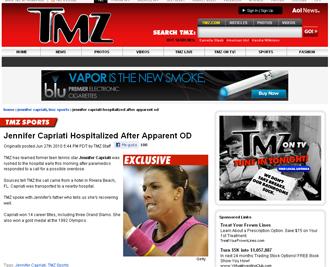 Informaci�n sobre Capriati en TMZ