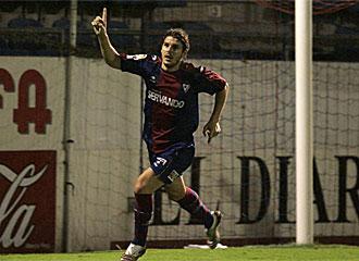 Sutil celebra un tanto con el Eibar la pasada temporada.