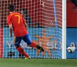 Villa fall� un penalti ante Honduras