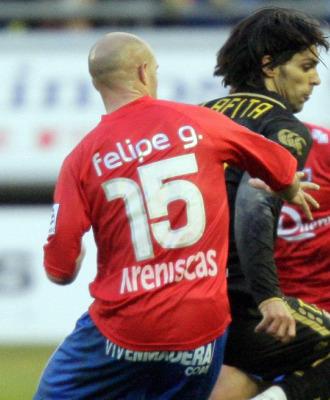 Felipe Gurendez, en un partido con el Numancia.
