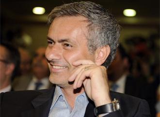 Jos� Mourinho, durante un acto.