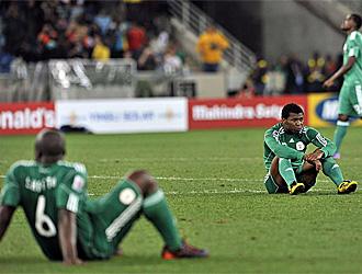 La selecci�n nigeriana, abatida tras su eliminaci�n del Mundial