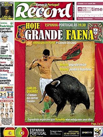 Portada del diario Record del martes 29 de junio