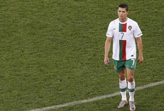 Cristiano Ronaldo manifest� su malestar tras la derrota ante Espa�a