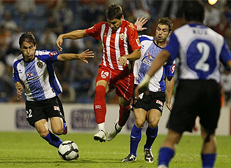 Álex Quillo durante un partido del Almería.