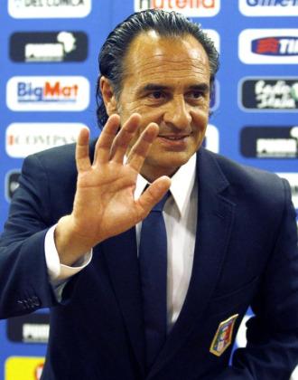 Prandelli, en su presentaci�n como nuevo t�cnico de Italia.