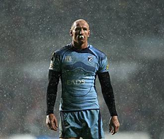 Gareth Thomas, durante un partido de los Crusaders galeses en la Rugby Super League
