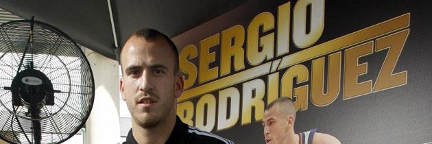 Sergio Rodr�guez en un acto promocional en Madrid