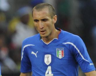 Chiellini, durante un partido de Italia en el Mundial de Sud�frica.