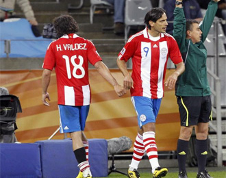 Santa Cruz sustituye a Valdez en un partido de este Mundial