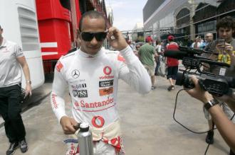 Hamilton, durante el pasado Gran Premio de Valencia