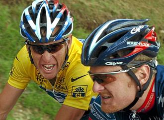 Landis junto a Armstrong