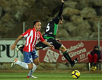 Xumetra, en un partido con el Girona