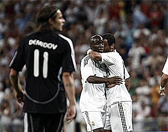 Demidov, en un partido entre el Real Madrid-Rosenborg