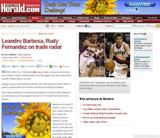 Información del Boston Herald sobre Rudy y Boston