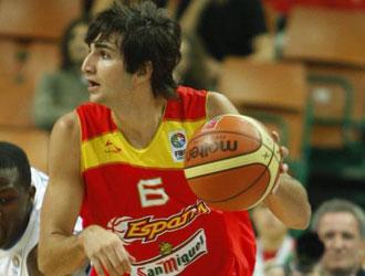 Ricky Rubio jugando el Eurobasket con Espa�a