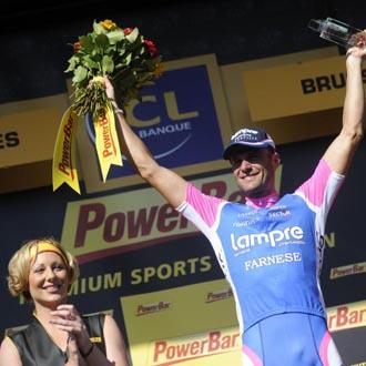 El italiano volvi� a saborerar las mieles del podium del Tour siete a�os despu�s