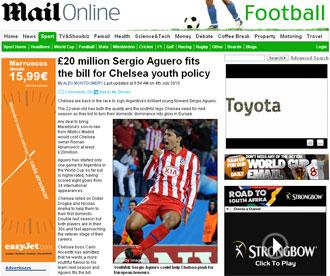 Informaci�n del Daily Mail sobre Ag�ero