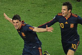 Villa celebra el gol de la victoria