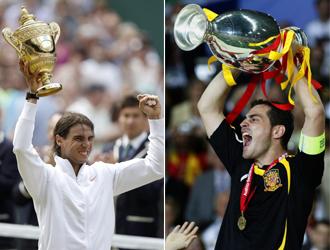 Rafael Nadal e Iker Casillas.
