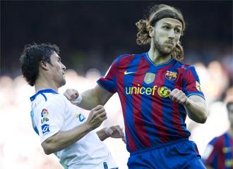 Chigrinski, durante un encuentro con la camiseta del F�tbol Club Barcelona