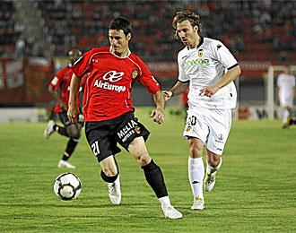 Aduriz, en un partido del Mallorca contra el Valencia