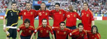 Once de Espa�a en la Eurocopa