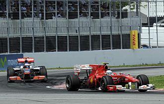 Alonso y Hamilton, durante el pasado Gran Premio de Europa