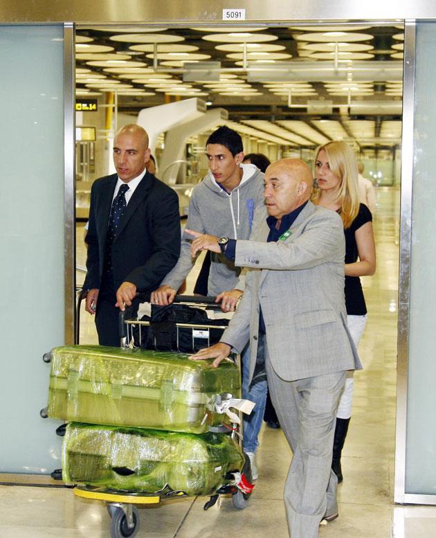 Di Mar�a a su llegada al aeropuerto de Madrid