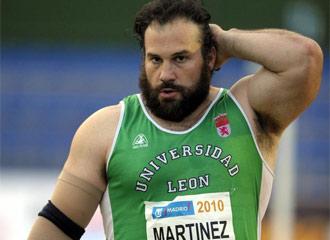 Manolo Martínez, durante una competición