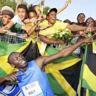 Bolt lo celebr� a lo grande como es habitual en �l