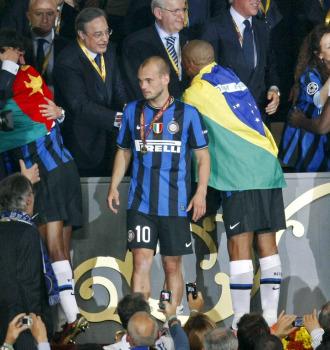 Sneijder, tras la final de la Champions entre el Inter y el Bayern.
