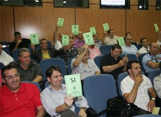 Imagen de la Asamblea de la LNFS celebrada en Las Rozas