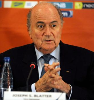 Blatter, en su intervenci�n.