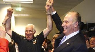 Su Majestad ya celebr� la Eurocopa con la plantilla