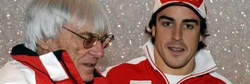 Ecclestone y Alonso